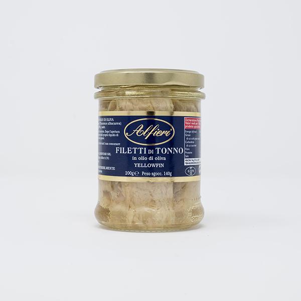 filetti di tonno olio oliva